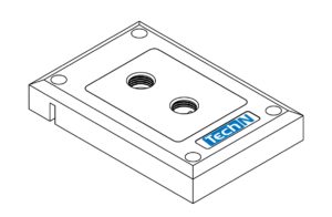 """Water block with G¼"""" connector"""