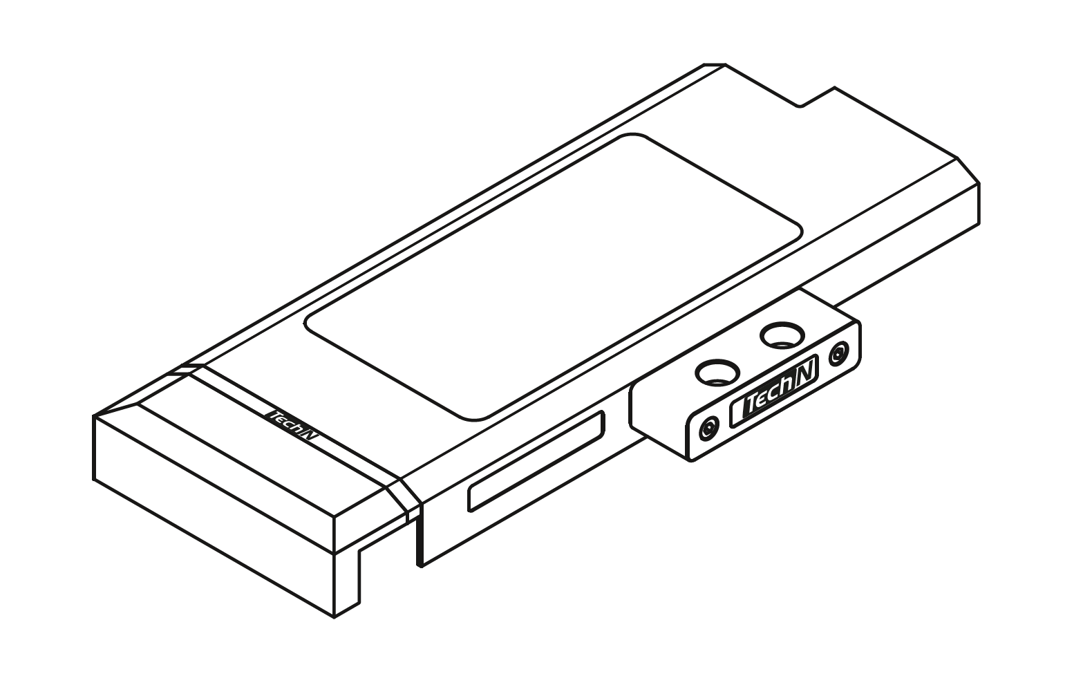 "Water block with G¼"" connector"